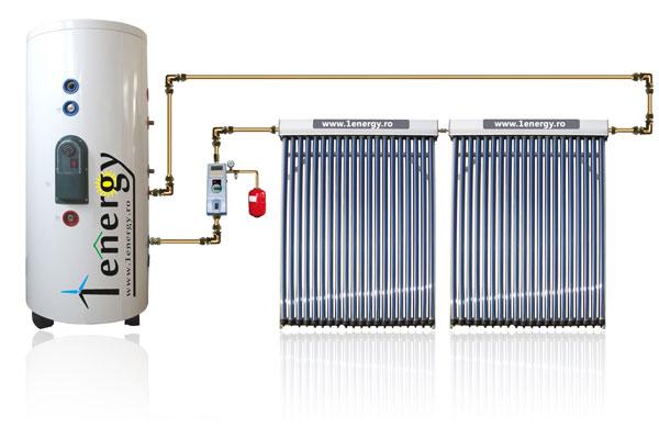 Kit Panou solar apa calda 4 anotimpuri 300 litri, INOX